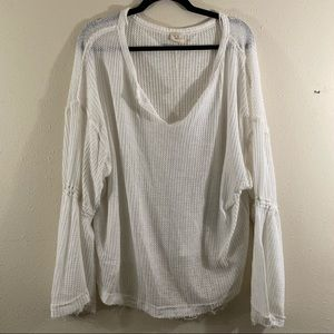 Women's Free People white peasant top Large L